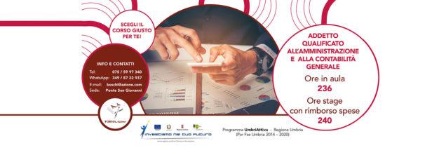 Corso Addetto qualificato all'amministrazione e contabilità generale Umbria