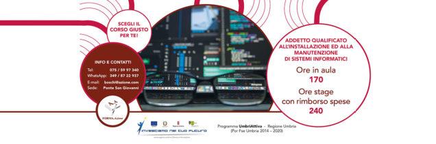 Corso Addetto qualificato all'installazione ed alla manutenzione di sistemi informatici in Umbria, FORMA.Azione Perugia