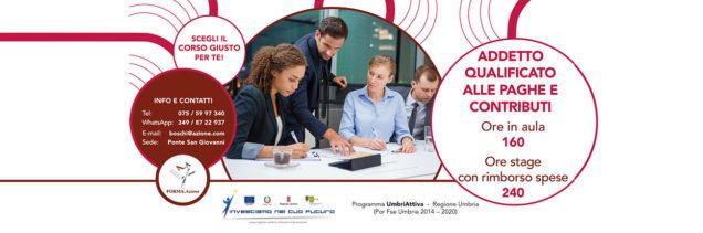 Corso da Addetto qualificato paghe e contributi in Umbria, FORMA.Azione