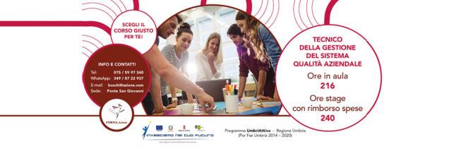 Corso da tecnico della gestione del sistema qualità aziendale in Umbria